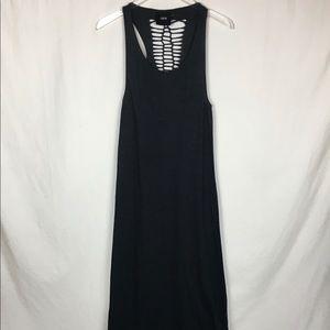 ASOS Black Macrame Back Maxi Tank Dress